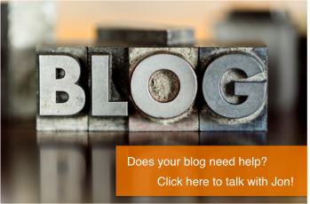 Does your blog need help? Click here to talk with Jon!